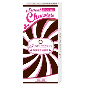 艾乐视sweetchocolate系列年抛美瞳1片—巧克力色