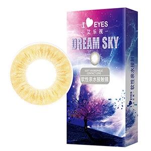 韩国进口艾乐视美瞳月抛1片-hydrangea棕