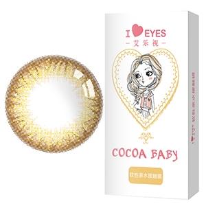 艾乐视人鱼姬2代棕色月抛2片装14.2美瞳隐形眼镜-棕色