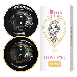 艾樂視小灰銀環年拋美瞳隱形眼鏡1片-灰色