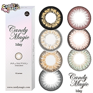优你康Candy magic日抛美瞳10片装-清新亮黑
