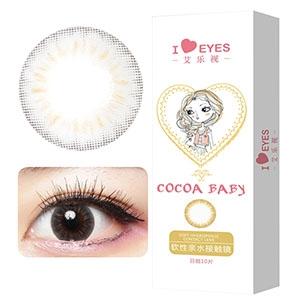 韩国进口艾乐视日抛美瞳隐形眼镜30片-可可灰