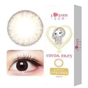 韩国进口艾乐视日抛美瞳隐形眼镜30片-可可棕