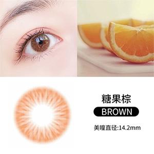 韩国divabisou年抛美瞳blingcolor1片装-糖果棕