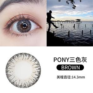 韩国divabisou年抛美瞳1片装-PONY三色灰