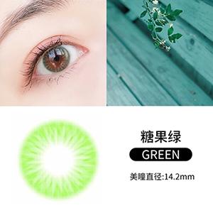 韩国divabisou年抛美瞳blingcolor1片装-糖果绿