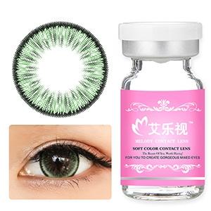 艾乐视年抛美瞳1片瓶装-荧光绿