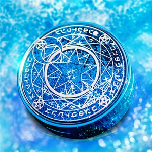 魔法阵美瞳伴侣盒星空流沙镜盒-蓝色