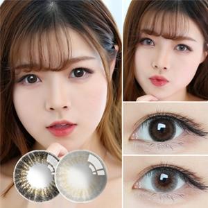 韩国进口艾乐视大小直径年抛美瞳1片装-魔力黑