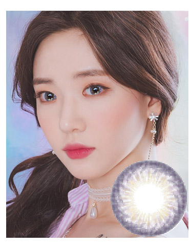 韩国进口艾乐视美瞳月抛彩虹紫