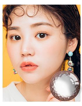 韩国进口艾乐视大小直径年抛美瞳可爱巧