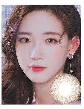 韩国进口艾乐视美瞳月抛1片Golden棕色