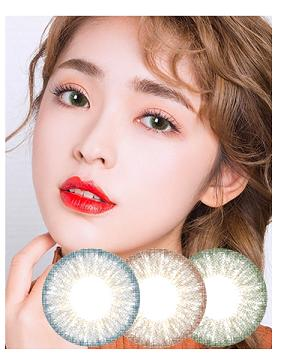 韩国进口艾乐视美瞳月抛Golden绿色