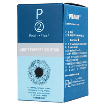 P2滴润多功能隐形眼镜护理液10ML*5支
