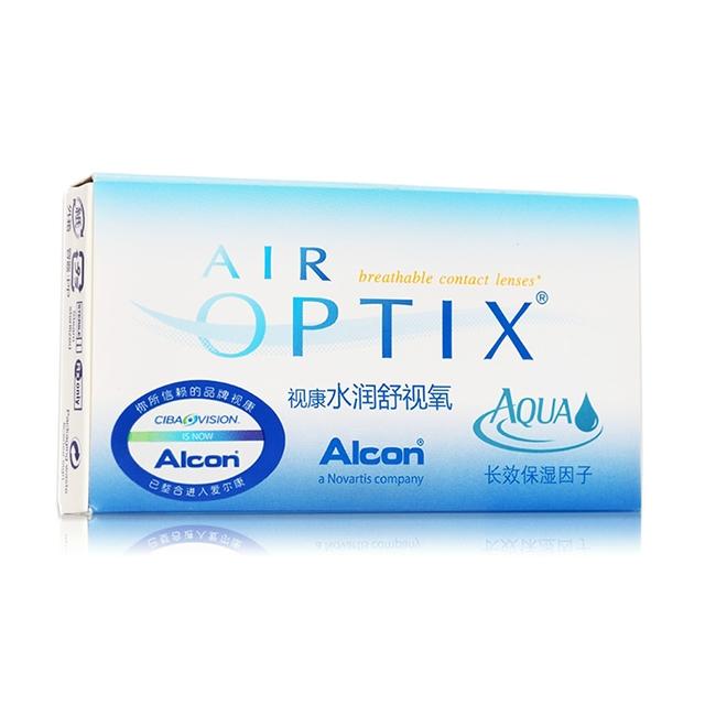 视康水润舒视氧硅水凝胶月抛隐形眼镜3片装
