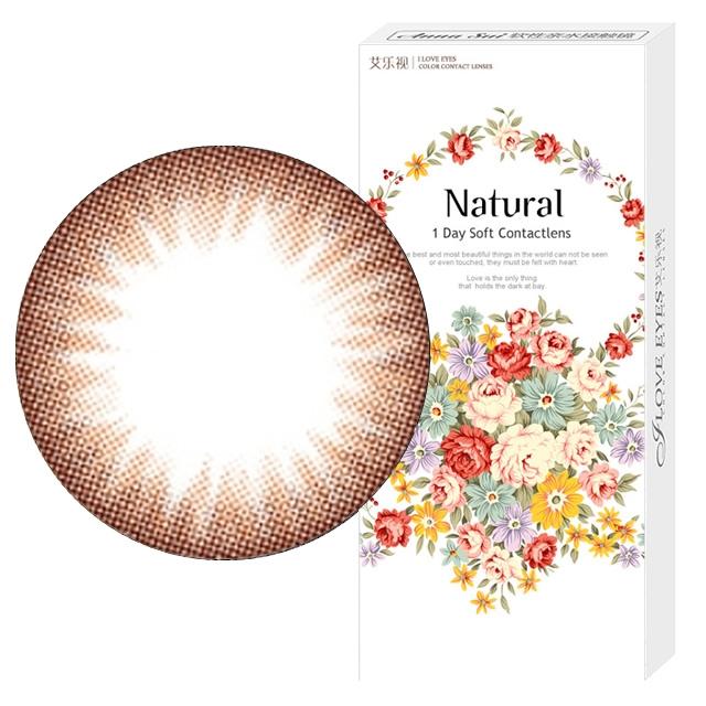 艾乐视新大美目系列年抛美瞳1片装—自然精灵棕