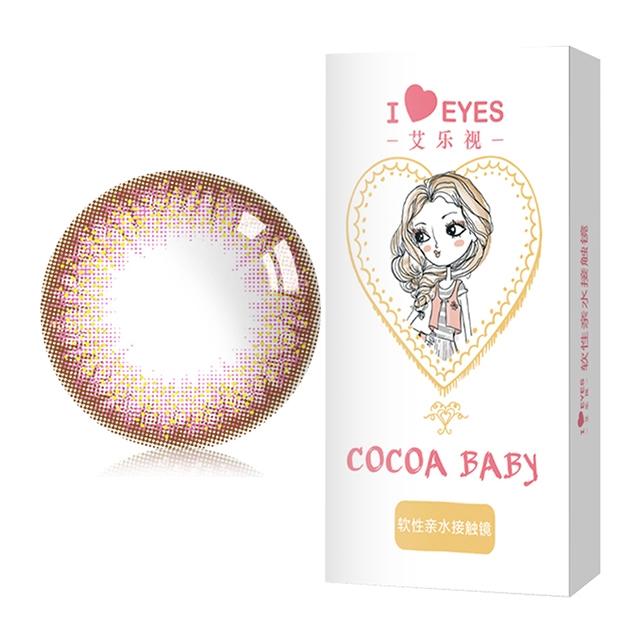 艾乐视人鱼姬2代粉紫色年抛1片14.20美瞳隐形眼镜-粉紫色