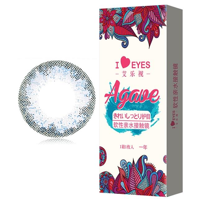 艾乐视混血蓝灰色年抛1片14.2美瞳隐形眼镜-蓝灰色