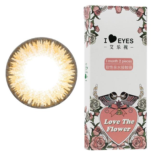 艾乐视心机棕月抛2片装14.0美瞳隐形眼镜-棕色