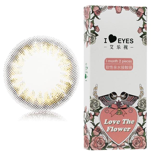 艾乐视花语巧月抛2片装14.0美瞳隐形眼镜-巧色
