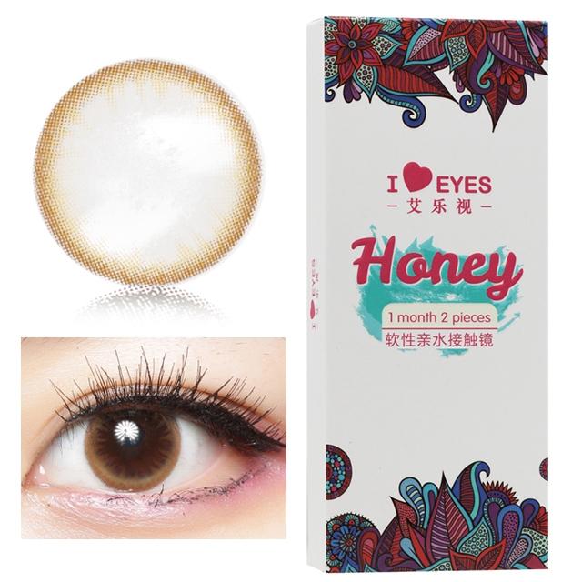 艾乐视蜂蜜棕月抛2片装14.0美瞳隐形眼镜-蜂蜜棕色