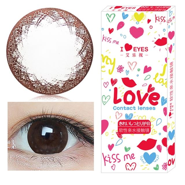韩国进口艾乐视大小直径年抛美瞳1片装-可爱巧