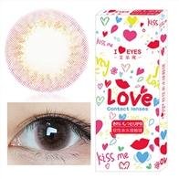 韩国进口艾乐视大小直径年抛美瞳1片装-爱丽丝粉
