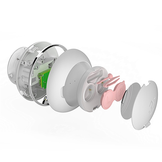 3N3代隐形近视眼镜自动清洗器-白色