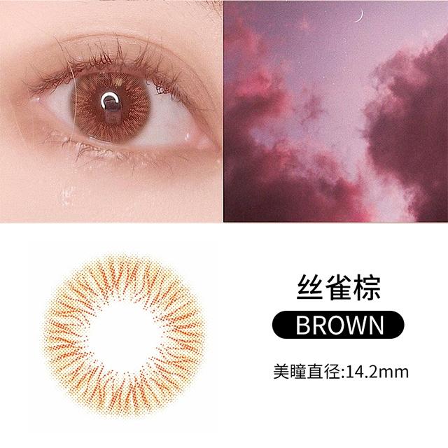 韩国divabisou年抛美瞳blingcolor1片装-丝雀棕