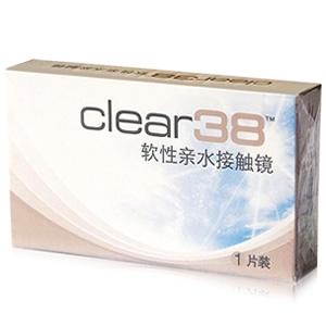 科莱博clear38年抛隐形眼镜1片装