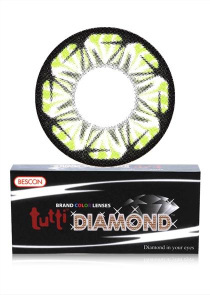 BESCON双色钻石绿色半年抛隐形眼镜1片装