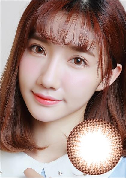 艾樂視新大美目系列年拋美瞳1片裝—自然精靈棕