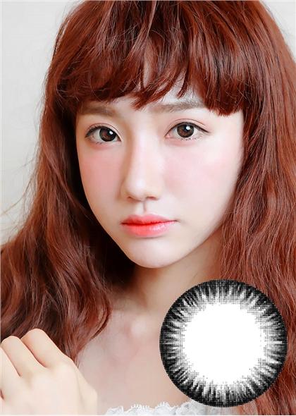 艾乐视新大美目系列年抛美瞳1片装—魔法炫闪黑