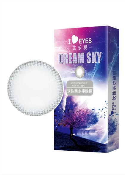 韩国进口艾乐视美瞳月抛1片-dream-sky灰