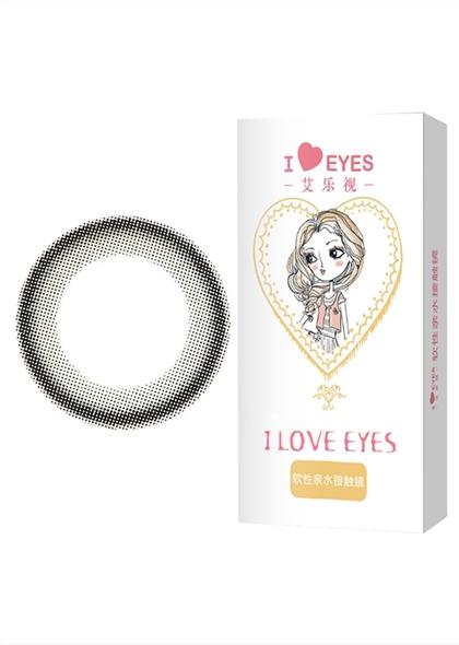 艾乐视FS美瞳隐形眼镜年抛1片-小黑环