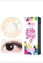 韩国进口艾乐视大小直径年抛美瞳1片装-李圣经棕色