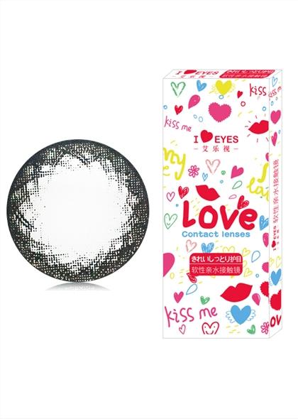 韩国进口艾乐视大小直径年抛美瞳1片装-可爱黑