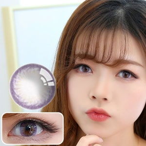 韩国进口艾乐视美瞳月抛1片-彩虹紫