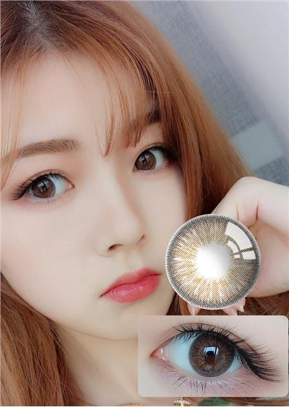 韩国进口艾乐视日抛美瞳10片-梦幻城堡棕